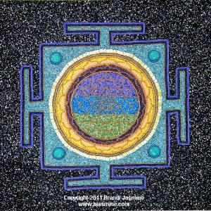Shri Yantra in Beads - Embeaded Mystical Fine Art by Brandi Jasmine